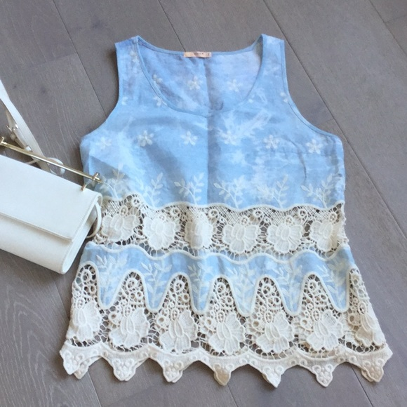 Cute top with crochet detail